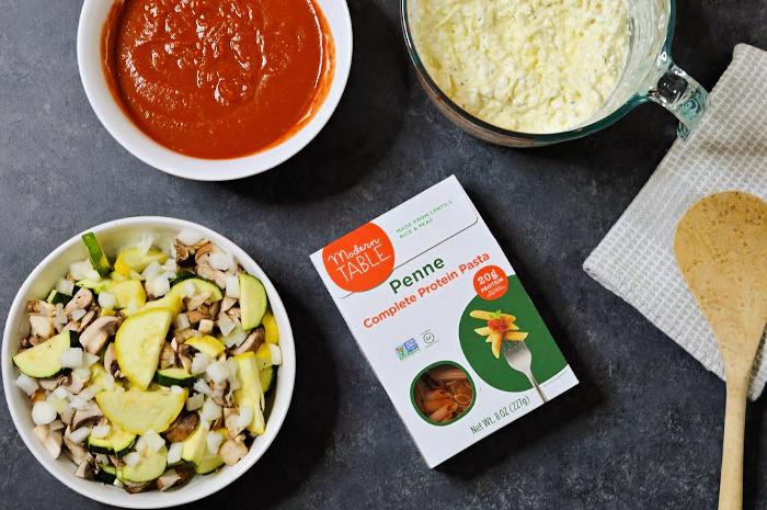 Vegetarian Lasagna Casserole - Ingredients