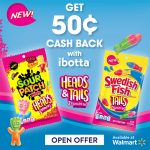 NEW Sour Patch Kids Heads & Swedish Fish Tails ibotta Offer at Walmart!