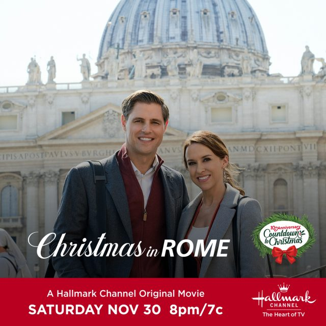 "Hallmark Channel's Countdown to Christmas is one of my favorite holiday traditions! Watch Hallmark Channel's premiere of ""Christmas in Rome on Saturday, November 30th at 8pm/7c!"