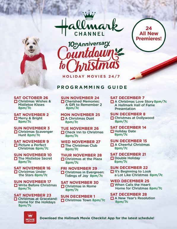 countdown to Christmas movies list