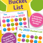 Want to make a family bucket list but you aren't sure how? You have to check this out. I have a simple bucket list printable that is perfect for you and your family.  Free to print, get started today with your 2020 Family Bucket List.