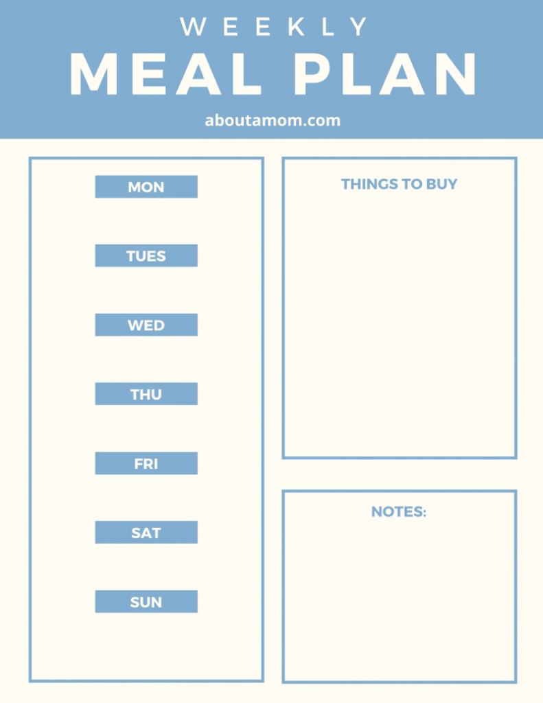 Meal planning helps take the stress out of dinnertime. Using this weekly meal plan printable and 15 meal planning tips to save you time, money and aggravation.