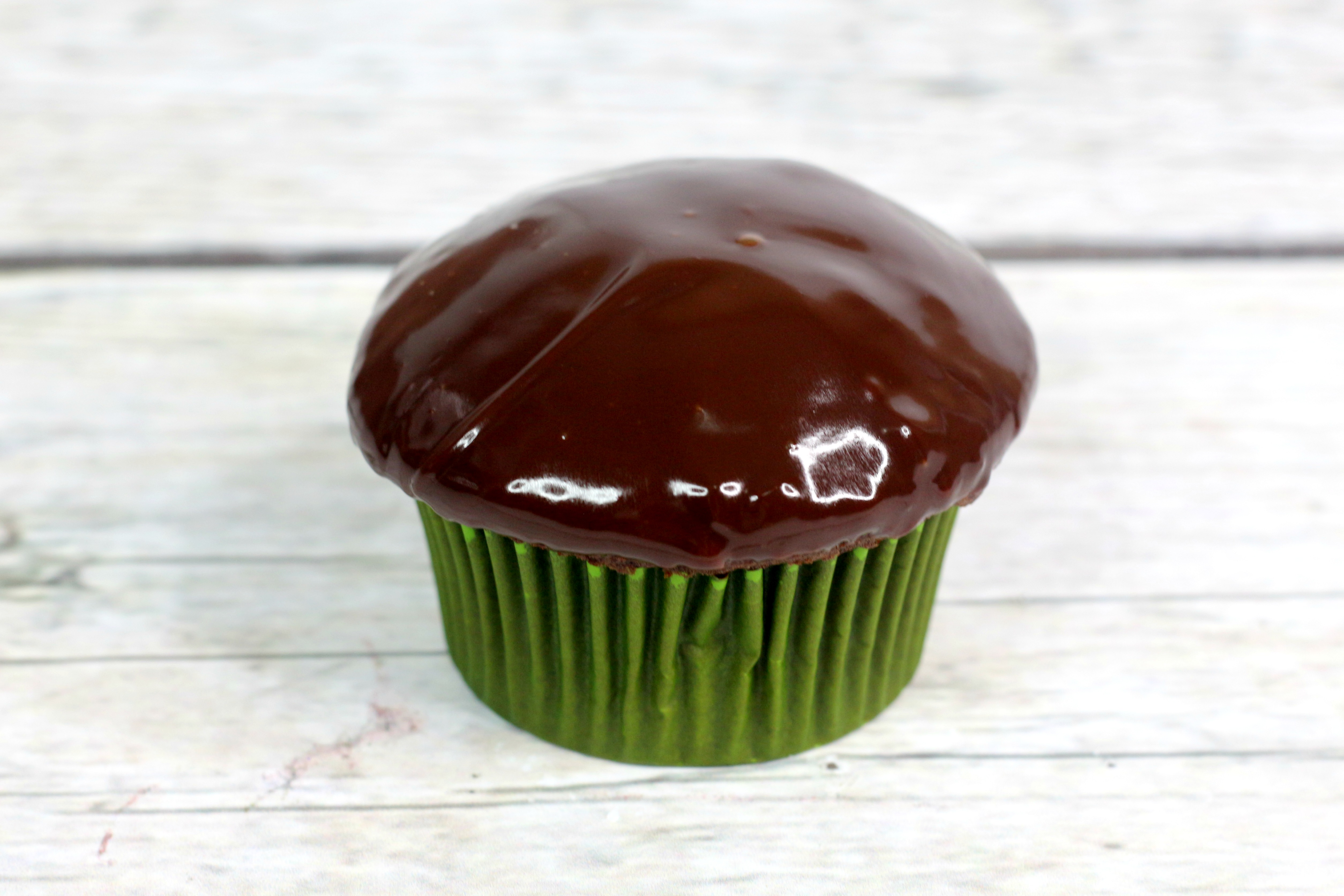 Andes mint cupcakes cupcake with ganache