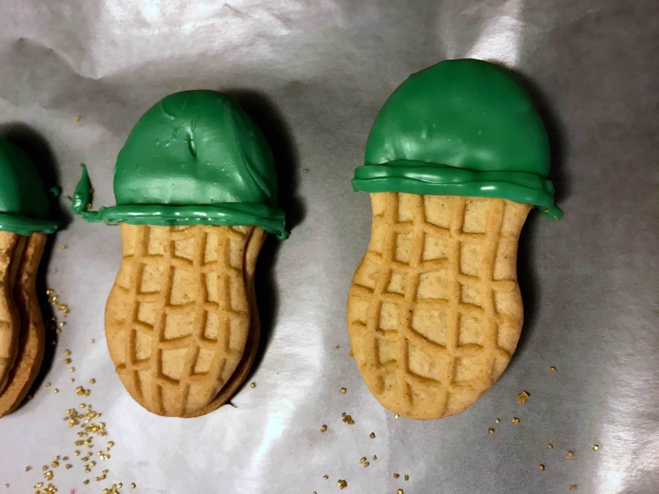 start of St Patrick's Day Cookies