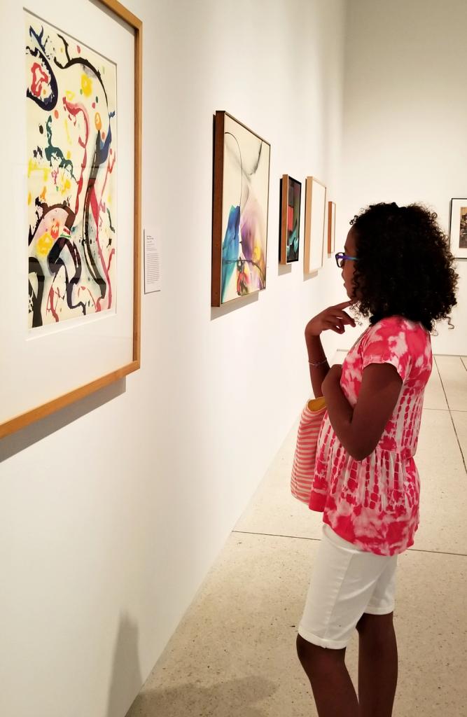 girl at art museum