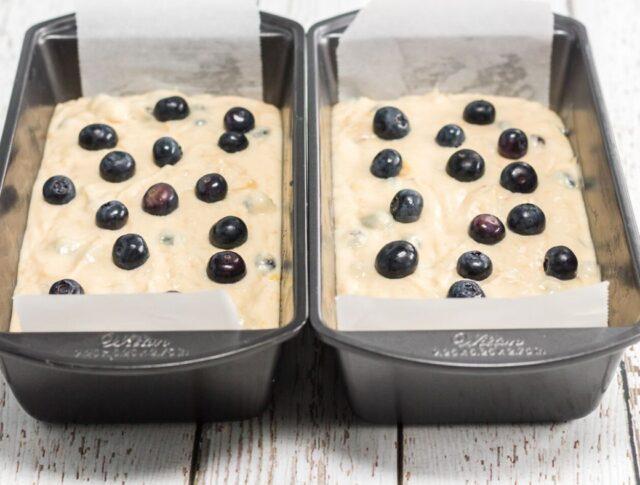 blueberry banana bread batter
