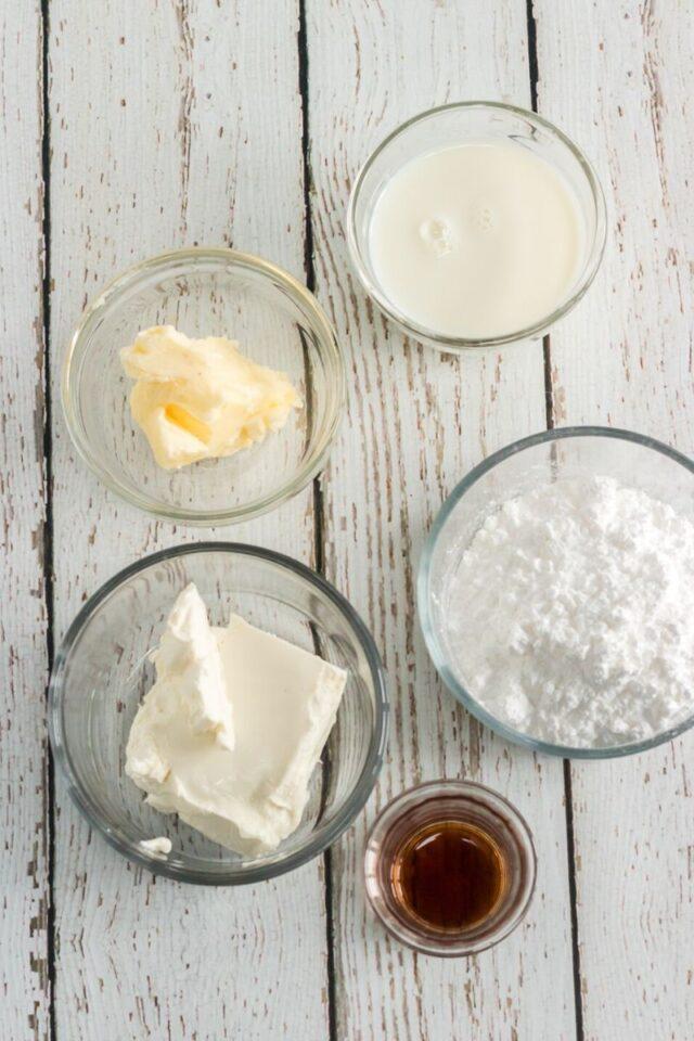 cream cheese glaze ingredients