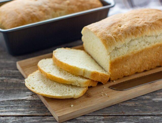 sliced homemade honey bread