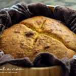 Looking for a No Yeast Bread Recipe? This is the easiest bread recipe. It uses baking soda and baking powder combined with vinegar to make the bread rise. Savory and delicious, this Irish Soda Bread is a dense but soft bread that goes great with any meal.