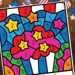 Looking for 4th of July activity that the kids will love? This Free 4th of July Color by Number Printable for preschoolers is a great way to celebrate. It is a fun way to help kids recognize their numbers while having fun coloring. Download and print one page or all three, these fun coloring pages are perfect for an easy afternoon or for a picnic.