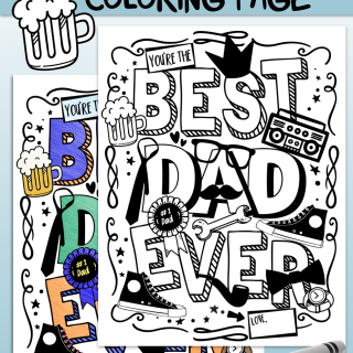 Best Dad Ever Coloring Page - 3