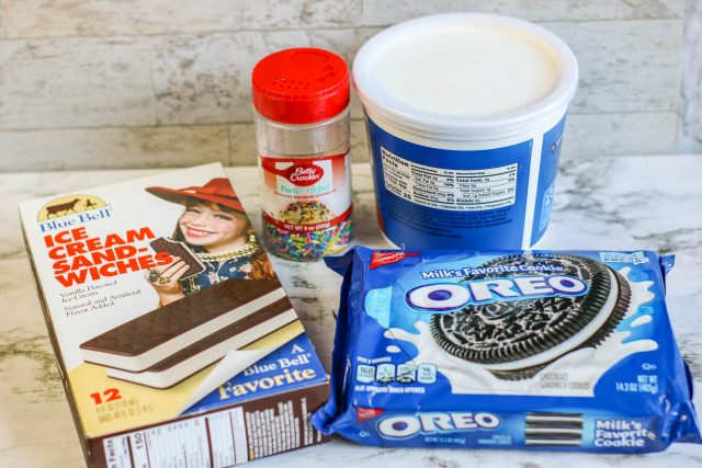 Ice Cream Sandwich Cake ingredients
