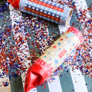 Make your own 4th of July Confetti Poppers.  Simple and fun for all ages, these DIY confetti poppers are inexpensive to make. With a few supplies, you can have fun making your own patriotic party favors for Independence Day.