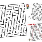 This Bee and Flower Maze Printable is a great summer boredom buster for kids. Download and print for free. The kids will love helping to bee get to the flower. Use this maze for a lazy afternoon or whenever you need a quick activity.