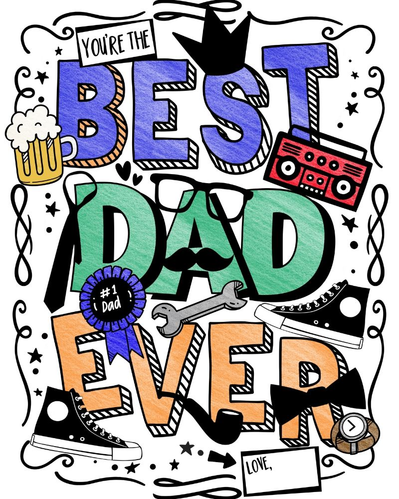 Coloring Page for Father's Day