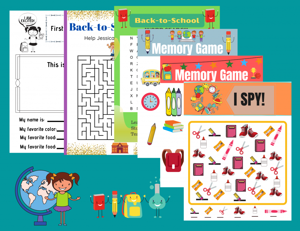These Printable Back to School Worksheets are a fun way to help get excited about heading back to school.