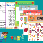 These Printable Back to School Worksheets are a fun way to help get excited about heading back to school. There are six activity pages included in this back to school printable pack.