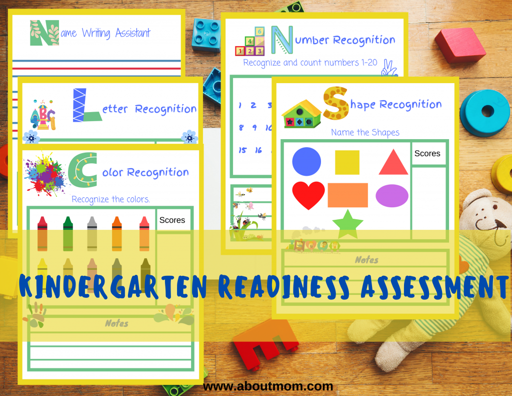 Are you wondering if your child is ready for kindergarten?  Use this free printable kindergarten readiness assessment activity pack to see where your child is and where they should be as they prepare to start kindergarten.  Includes color and shape recognition activities and more.