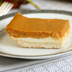 These are definitely the BEST pumpkin cheese cake bars and is a terrific pumpkin dessert recipe for Thanksgiving and the holiday season.