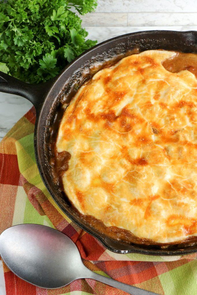 baked skillet chicken pot pie