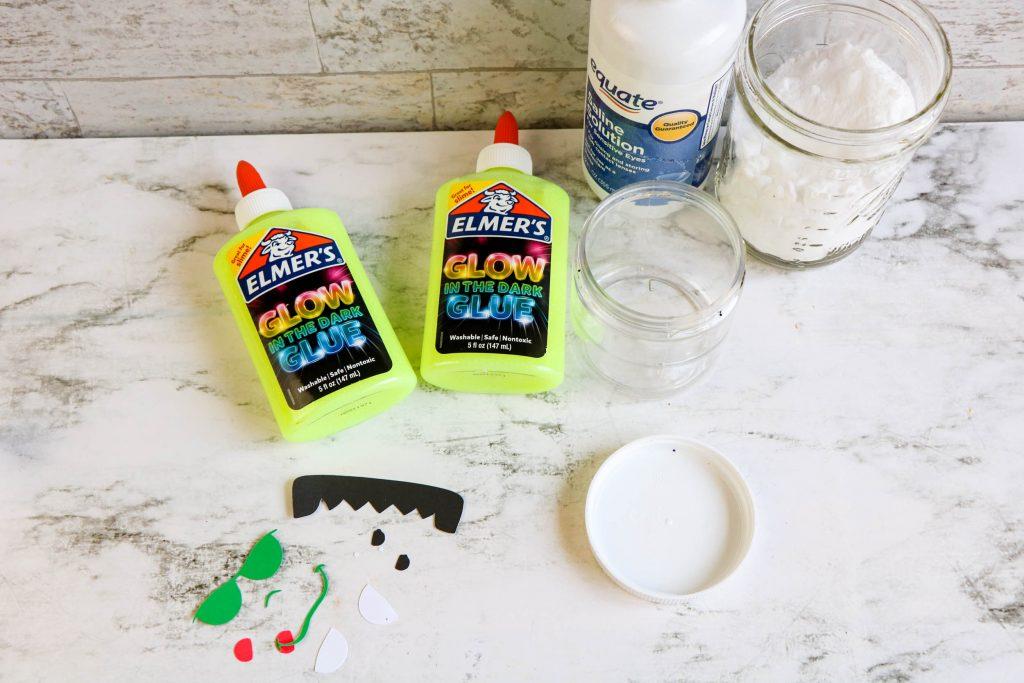 Frankenstein Glow in the Dark Slime supplies