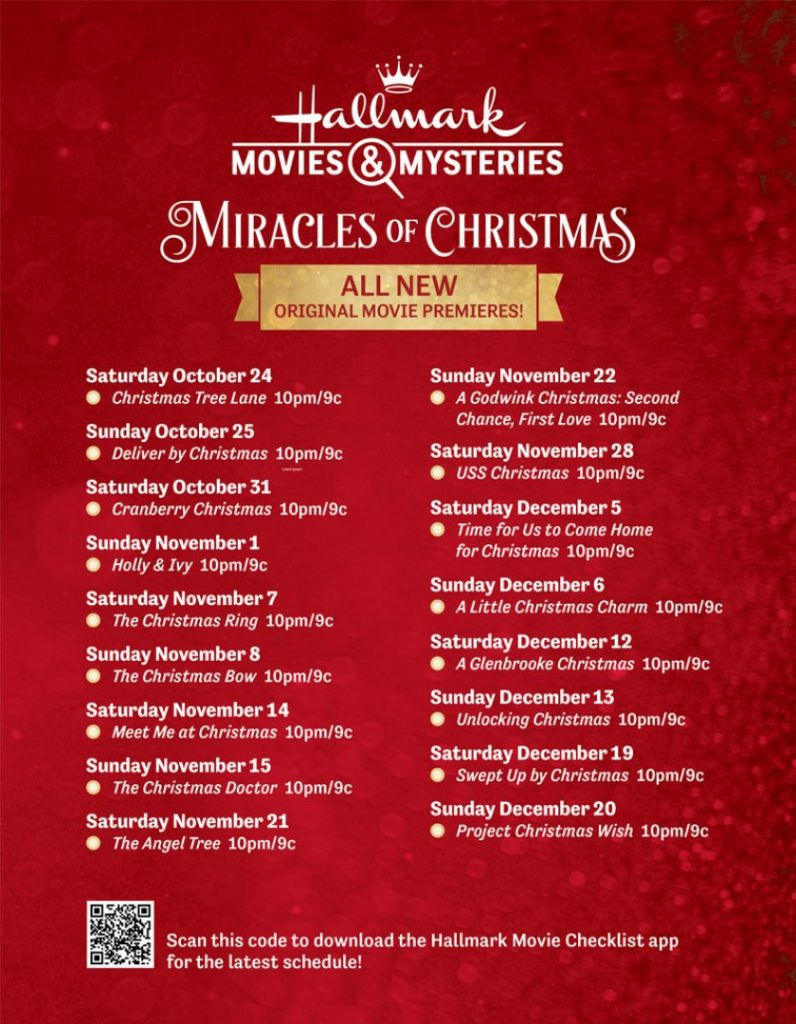Hallmark Miracles of Christmas Movies Lineup