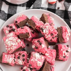 Love candy cane desserts? This Easy Peppermint Fudge recipe is perfect just in time for Christmas. It is sweet and creamy with additional topping that makes it perfect for a holiday dessert.