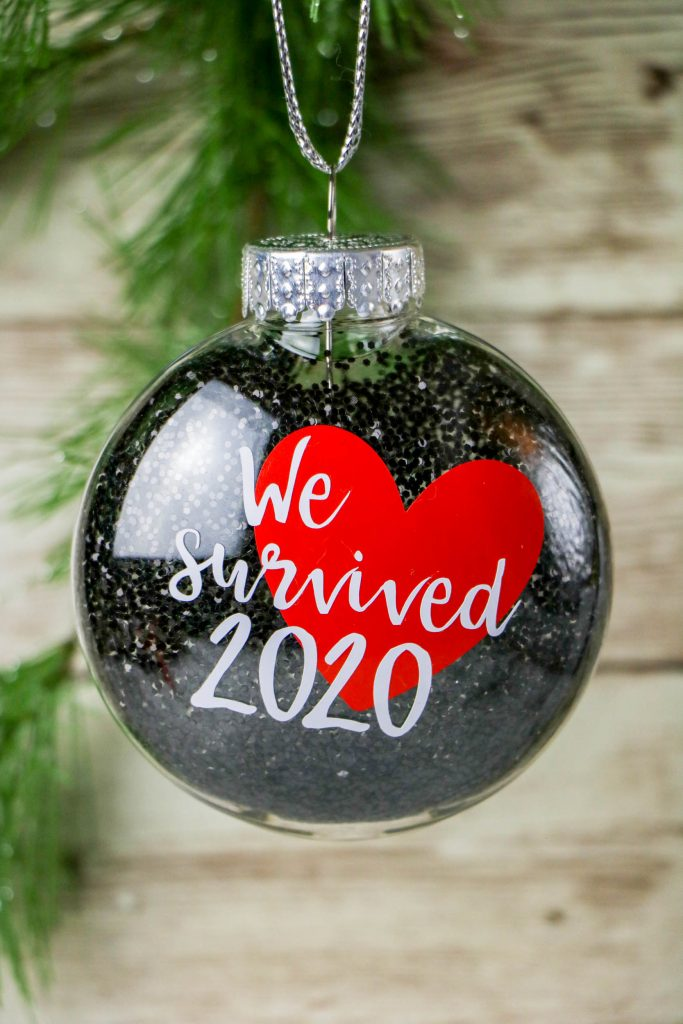 Many of us are looking forward to the end of it and to end this crazy year off. How about we make a DIY We Survived 2020 Ornament.