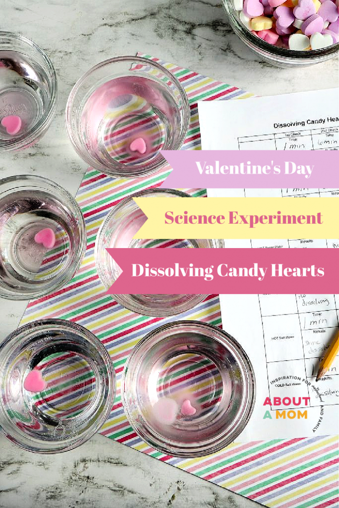 Learning can be so much fun for kids and this Dissolving Candy Hearts Science Experiment for Valentine's Day is a perfect example. This simple melting hearts science experiment uses classic Conversation Hearts candy to explore solubility. Kids of all ages will enjoy this candy science and Valentine's Day STEM activity.