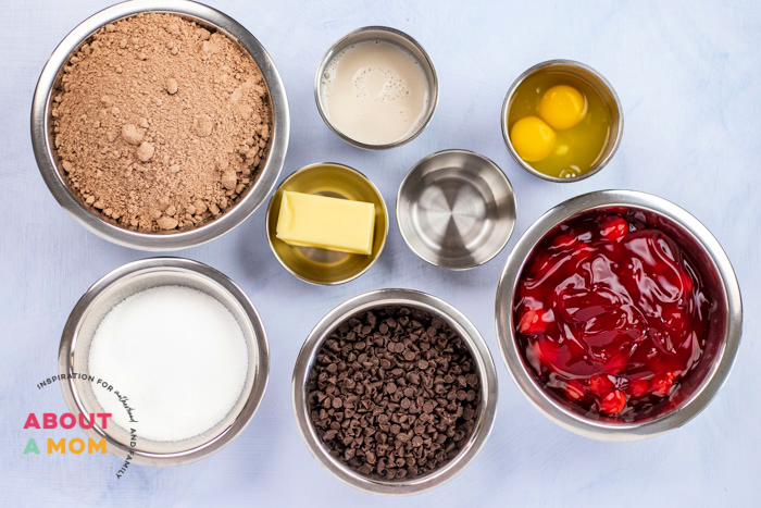 Cherry Chocolate Cake Ingredients