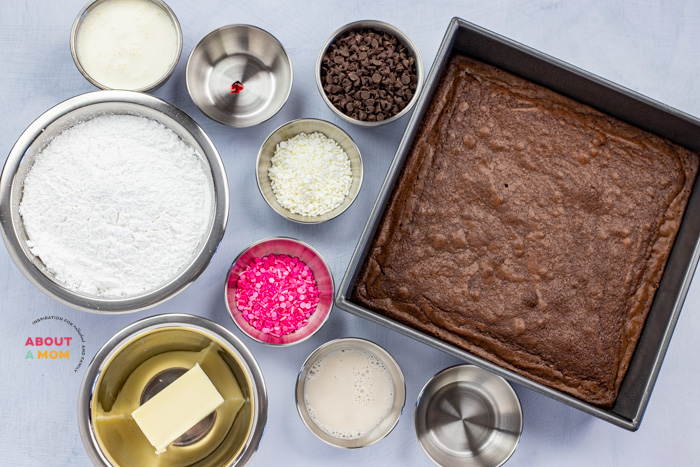 Sweetheart Brownies Recipe Ingredients