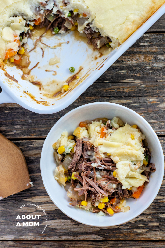 Shepherd's Pie with leftover pot roast recipe. If you have leftover pot roast, try a delicious leftover pot roast recipe today for a pot roast remix. Typically, when I make a slow cooker pot roast I cook an extra large beef roast for leftovers. There are so many wonderful ways to use leftover pot roast and this Shepherd's Pie recipe is one of my favorites.