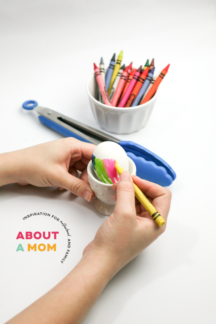 Melton Crayon Easter Eggs Activity for Kids