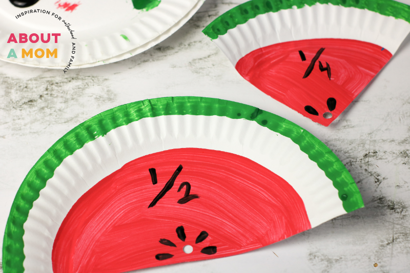 Dividing Watermelon into Fractions Activty