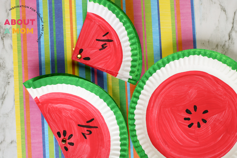 Math Fractions Activity with Watermelons