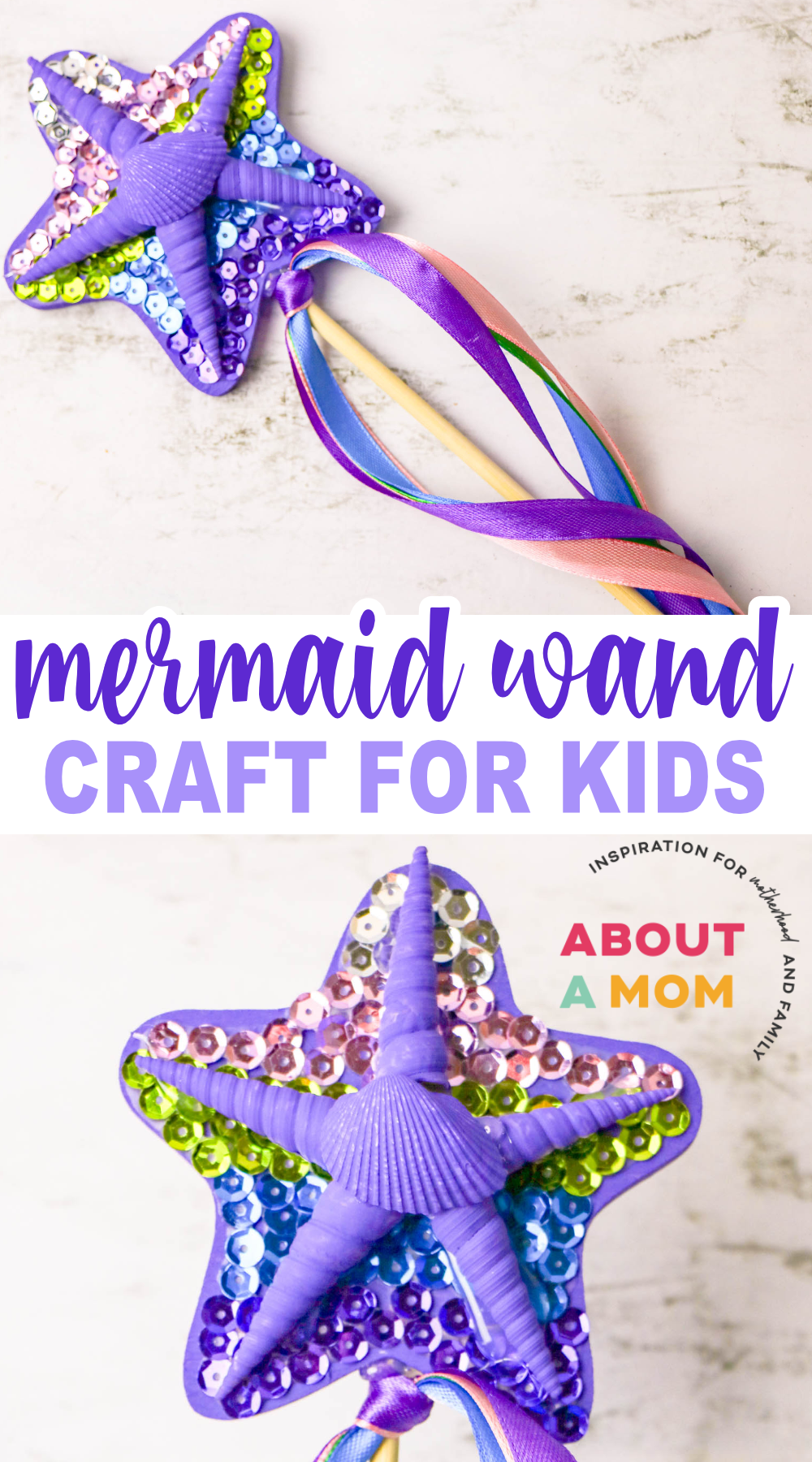 DIY Mermaid Wand Craft for Kids