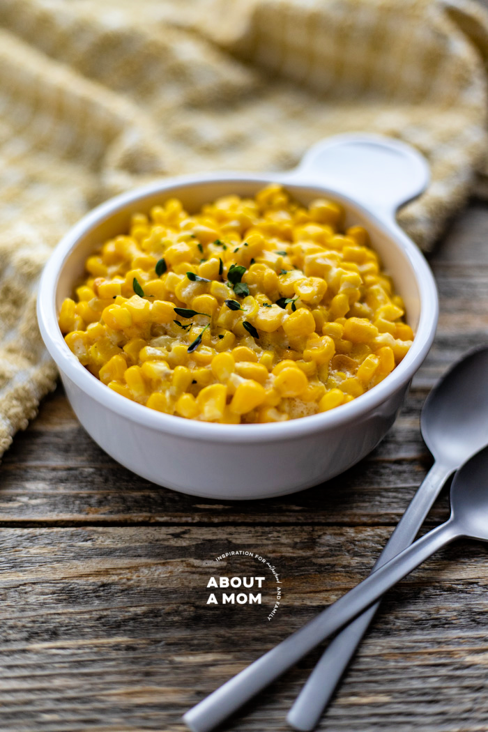 Slow Cooker Creamed Corn is a super simple and delicious side dish recipe to add to any meal for lunch or dinner.