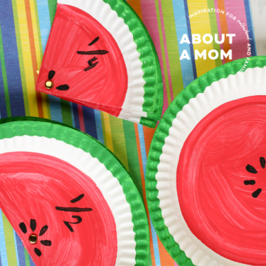 Watermelon Paper Plate Fractions Activity