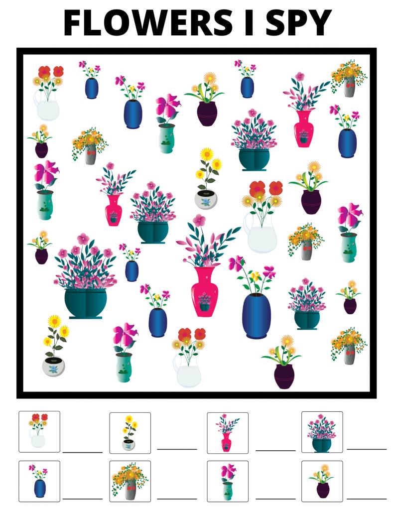 flowers I-spy printable
