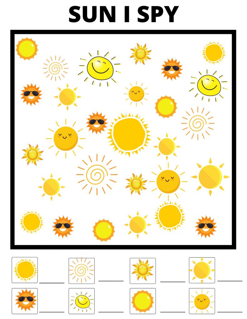 sun I-spy printable