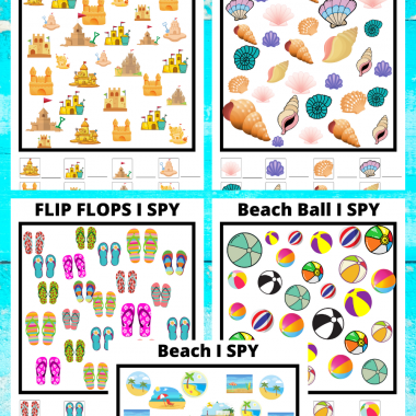 Beach I Spy Printable Activity Pack - Free