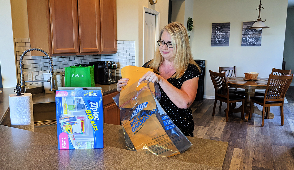 Keep important documents in your hurricane kit dry with Ziploc Big Bags from Publix.