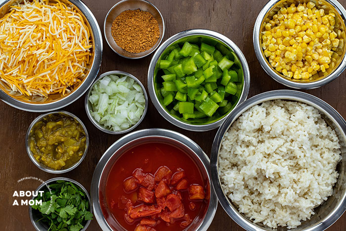 Cheesy Mexican Rice Recipe Ingredients