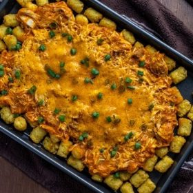 Buffalo Chicken Totchos recipe