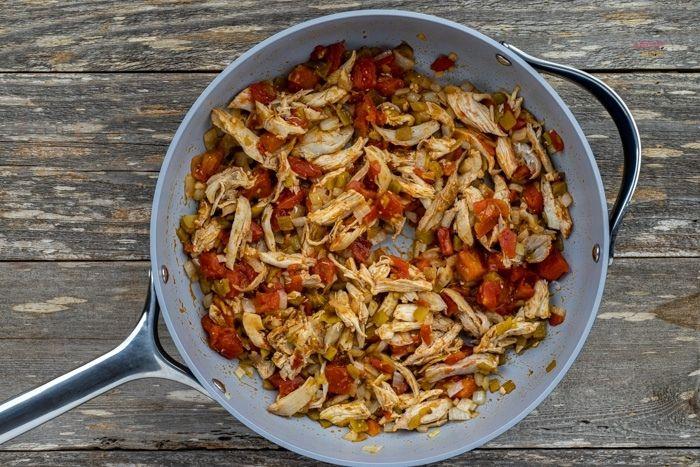 chicken in a pan