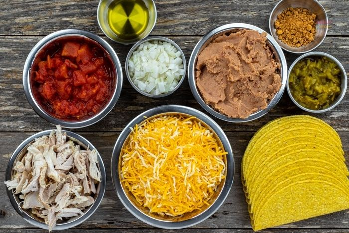 ingredients for baked chicken tacos