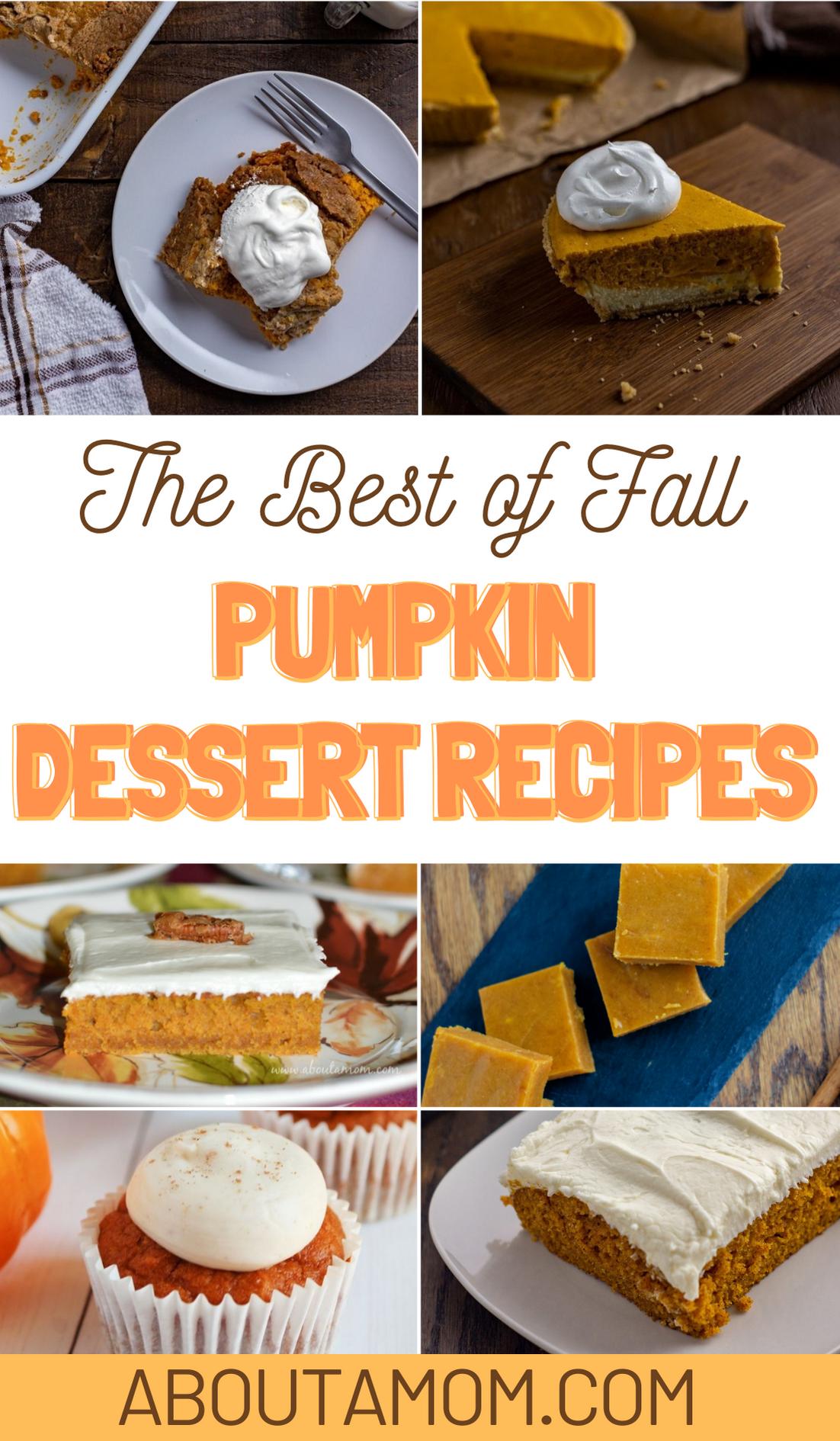 The Best Pumpkin Dessert Recipes for Fall